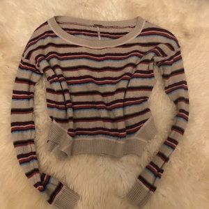 Free people striped cropped sweater